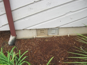 Plugged Crawlspace vent