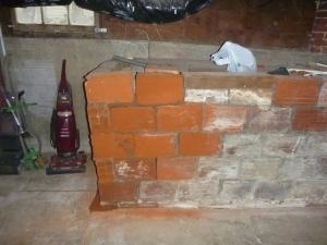 Cracks in a foundation in a old home in Salem Oregon.