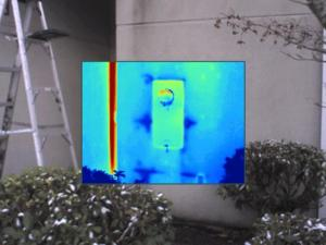 Leakage in Siding noted with Infrared/ thermal imaging