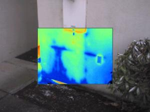 Blue = leakage noted with Infrared/ thermal Imaging